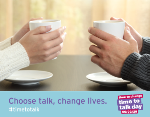 Time to Talk Day: helping end mental health discrimination—one sip at a time!